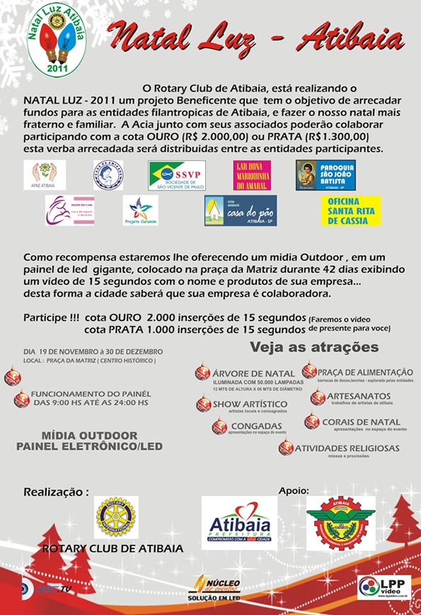 Cartaz Natal Luz Rotary Club Atibaia