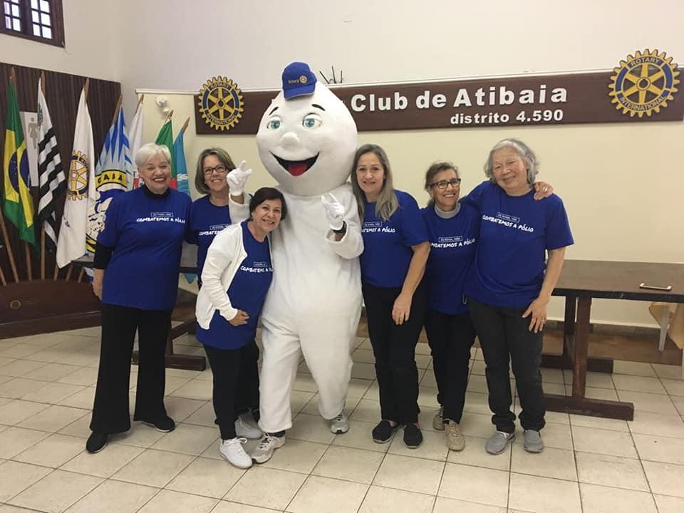 Rotary Atibaia e Casa da Amizade trabalhando  na Feijoada Solidária Beneficente e na Campanha de Vacinação 18 Ago 2018